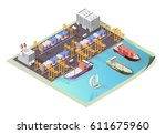 set of isolated high quality... | Shutterstock .eps vector #611675960