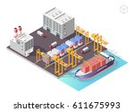 set of isolated high quality... | Shutterstock .eps vector #611675993