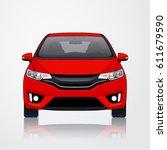 car vector template on white... | Shutterstock .eps vector #611679590