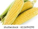 Sweet Corn On White Background