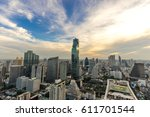 cityscape of bangkok city   ... | Shutterstock . vector #611701544