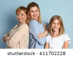 happy young woman with her...   Shutterstock . vector #611702228