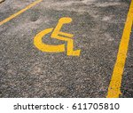 disabled symbol   disabled sign ... | Shutterstock . vector #611705810