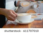 coffee late | Shutterstock . vector #611707010