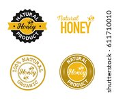 set of honey organic product... | Shutterstock .eps vector #611710010