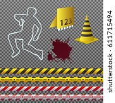 vector clipart. set of crime... | Shutterstock .eps vector #611715494