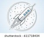 rocket outline | Shutterstock .eps vector #611718434