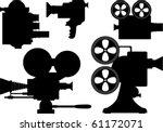 movie or television film camera ... | Shutterstock .eps vector #61172071