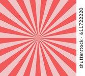 sunburst background pink color... | Shutterstock .eps vector #611722220