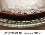 plain chocolate cake with no... | Shutterstock . vector #611727890