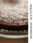 plain chocolate cake with no... | Shutterstock . vector #611727944