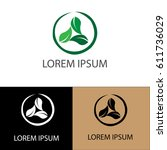 circle green company logo | Shutterstock .eps vector #611736029