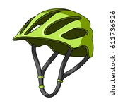 protective helmet for cyclists. ... | Shutterstock . vector #611736926