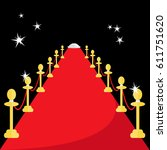 long red carpet event vip with... | Shutterstock .eps vector #611751620
