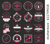 set of  badges and logos of... | Shutterstock . vector #611759018