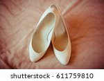 Classy White Shoes Stand On Th...