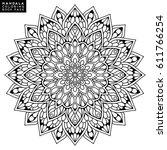 flower mandala. vintage... | Shutterstock .eps vector #611766254