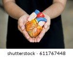 model of human anatomy. | Shutterstock . vector #611767448