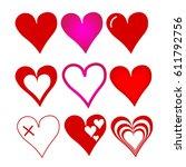 set of hearts | Shutterstock .eps vector #611792756
