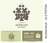 chess club sport emblems or...   Shutterstock .eps vector #611793704
