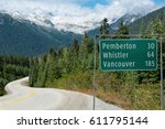 Road Sign In British Columbia ...