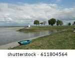 Small photo of Boat in bay of Somme in Picardy, France
