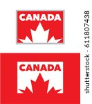 vector canada emblem set | Shutterstock .eps vector #611807438