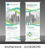 roll up business brochure flyer ... | Shutterstock .eps vector #611828240