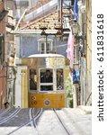 lisbon  portugal   may 2010 ... | Shutterstock . vector #611831618