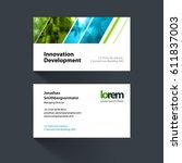 vector business card template...   Shutterstock .eps vector #611837003