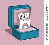 wedding bill | Shutterstock .eps vector #611843954