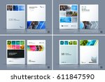 business vector template.... | Shutterstock .eps vector #611847590
