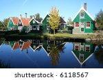 scenery at zaanse schans in... | Shutterstock . vector #6118567
