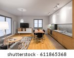 multifunctional  modern loft... | Shutterstock . vector #611865368