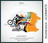 bicycle jumper   Shutterstock .eps vector #611868470
