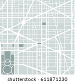 vector map of the city of... | Shutterstock .eps vector #611871230