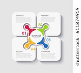 modern 3d infographic template... | Shutterstock .eps vector #611874959