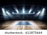 basketball arena 3d rendering | Shutterstock . vector #611875664