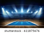 Basketball Arena 3d Rendering