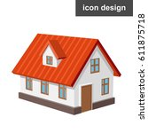 Vector Icon Of Isometric House