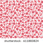 floral pattern. pretty flowers... | Shutterstock .eps vector #611883824