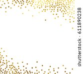 gold glitter background polka... | Shutterstock .eps vector #611890238