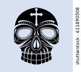 tribal mask design  abstract art | Shutterstock .eps vector #611890508