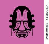 tribal mask design  abstract art | Shutterstock .eps vector #611890514