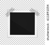 vector paper frame isolated on... | Shutterstock .eps vector #611891054