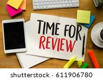 review time business concept  ... | Shutterstock . vector #611906780