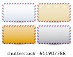 mail postal envelope vector... | Shutterstock .eps vector #611907788
