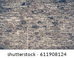 background of stone castle wall. | Shutterstock . vector #611908124
