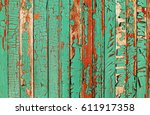 Turquoise Cracked Paint Wooden...