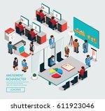 business office | Shutterstock .eps vector #611923046